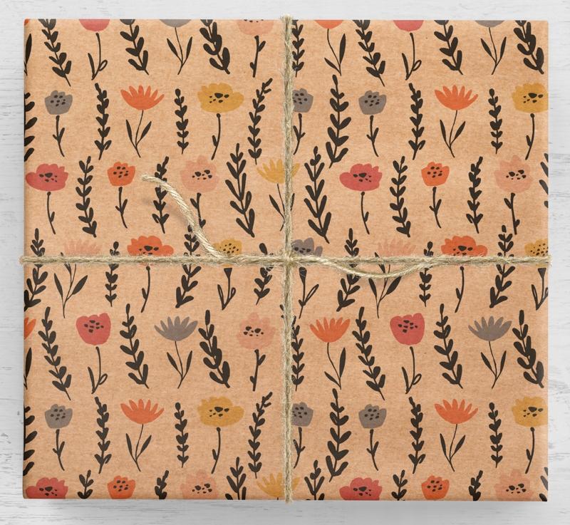 10a farebný darčekový baliaci papier