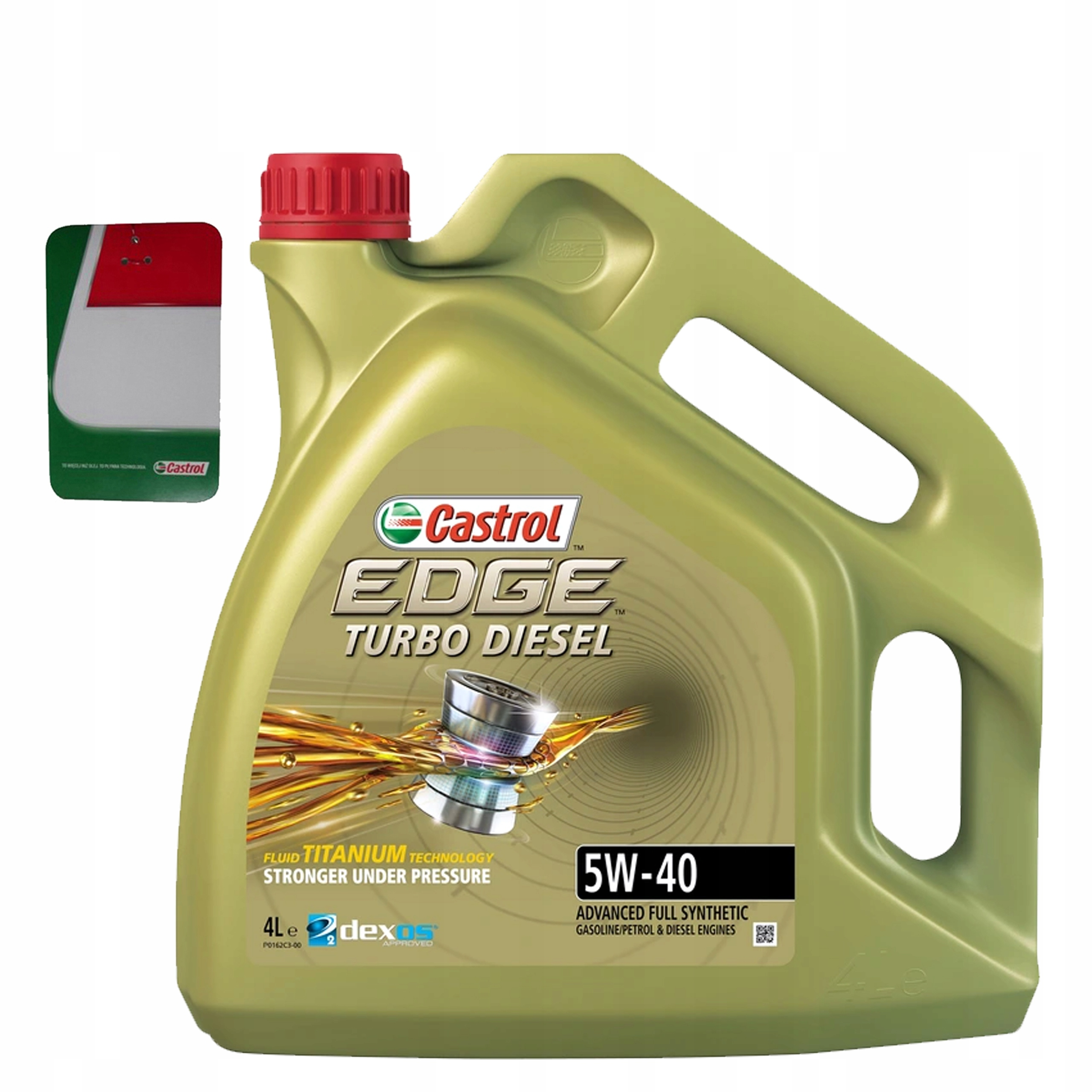 CASTROL EDGE TURBO DIESEL 5W40 OIL 4L + БЕСПЛАТНО