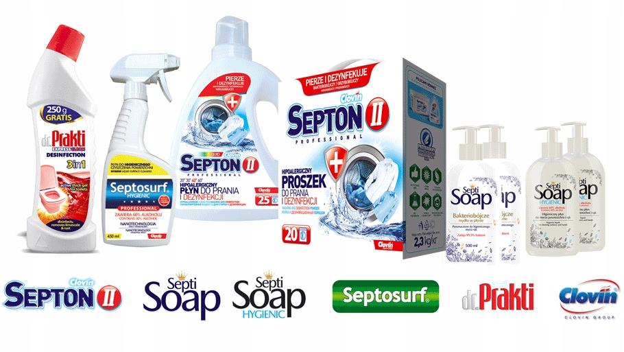 Septon II Wirusobójczy Płyn do Prania/Dezynfekcji Kod producenta CLOVIN II SEPTON PŁYN DO PRANIA I DEZYNFEKCJI 1,5L