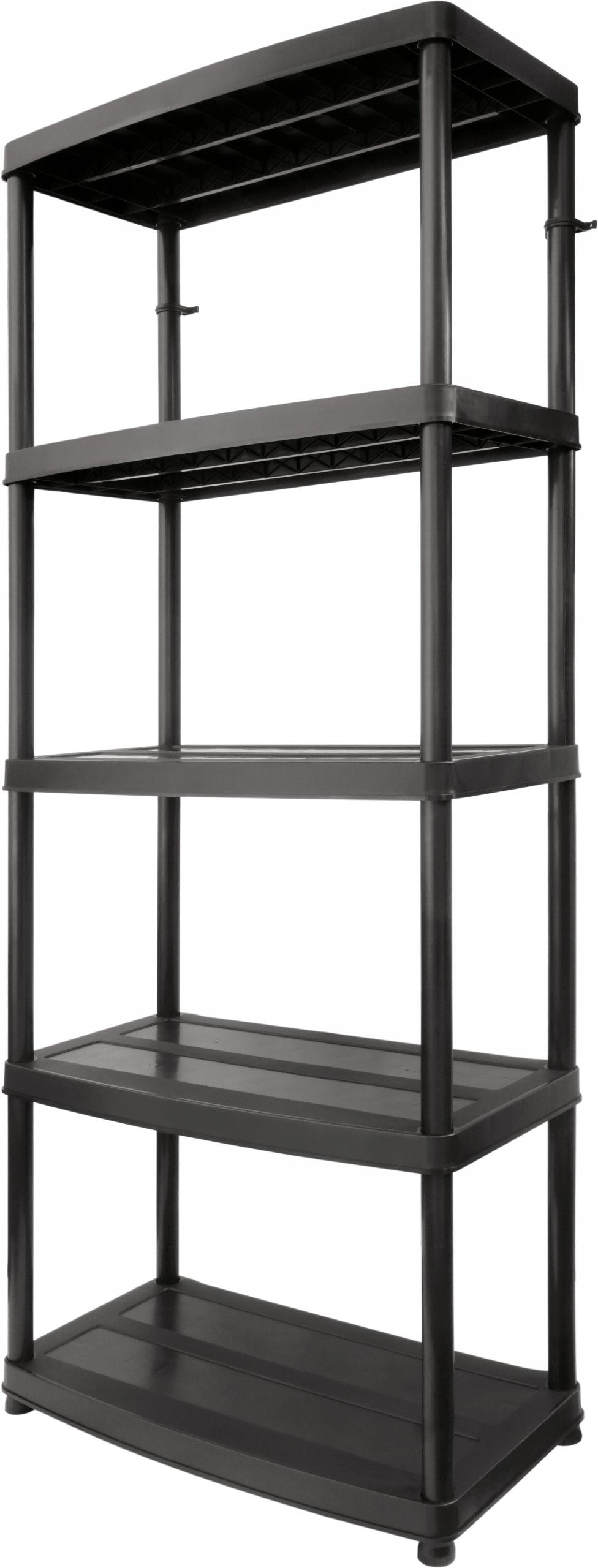Книжный шкаф пластиковый 5 полок 250 кг 75x40x180 см