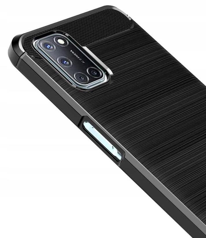 Etui do Oppo A72 A52 Pancerne Carbon + Szkło 9H Dedykowany model Oppo A72 A52