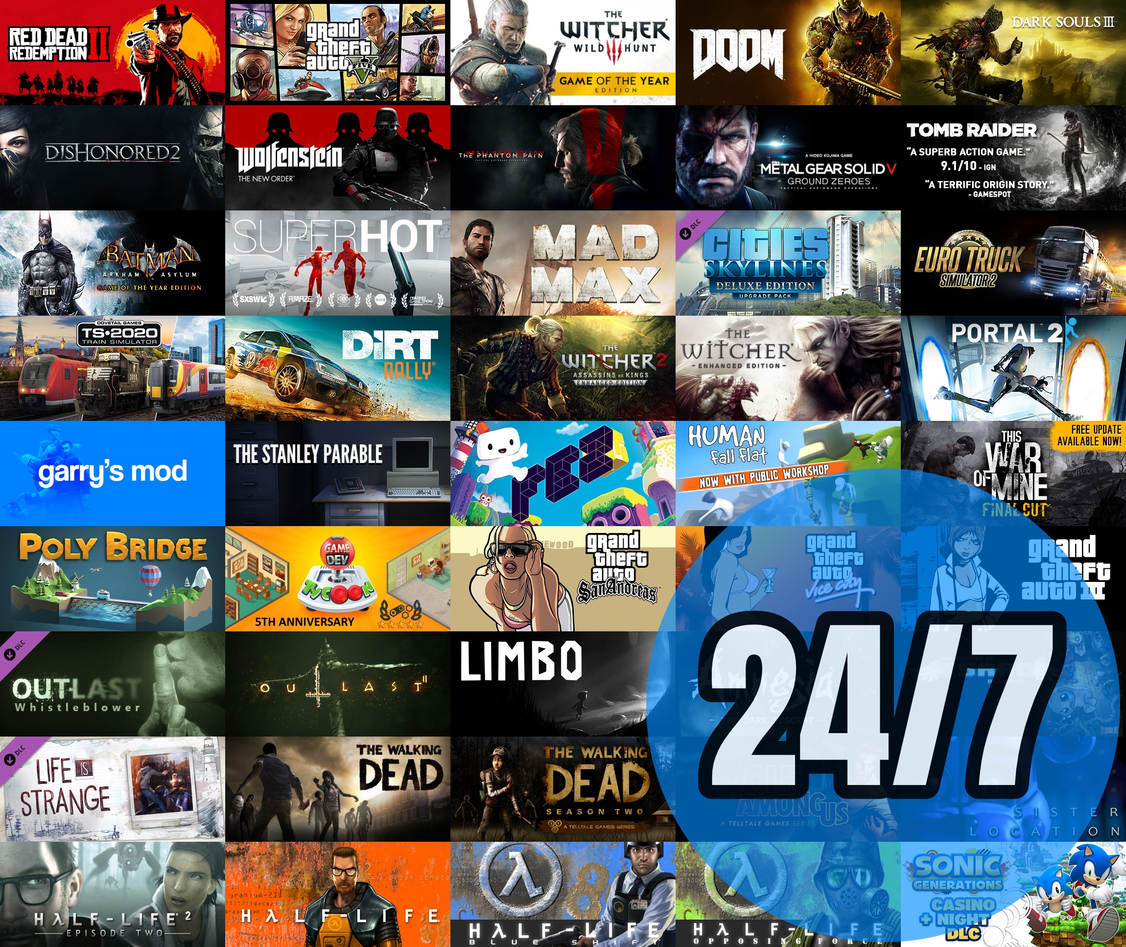 Konto Steam HITY  GTA Wiedźmin Tomb Raider