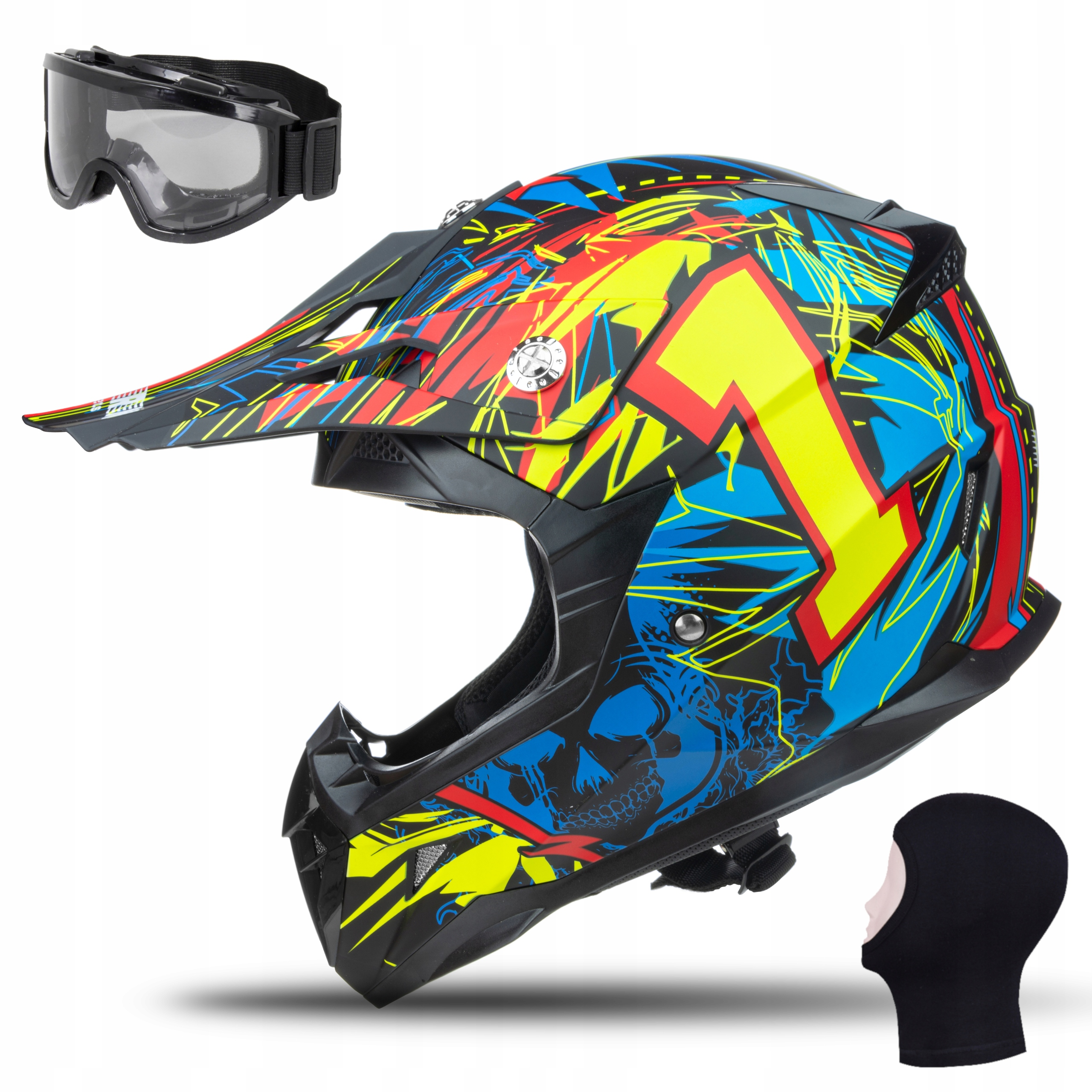 МОТОЦИКЛЕТНЫЙ ШЛЕМ JUNIOR HORN CROSS GOGGLE S