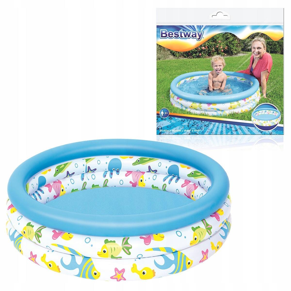 Бассейн надувной 102x25cm - BESTWAY БАССЕЙН детский бассейн