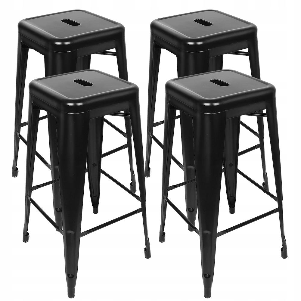 Židle BAR, vysoká stolička, čierna podkrovná stolička