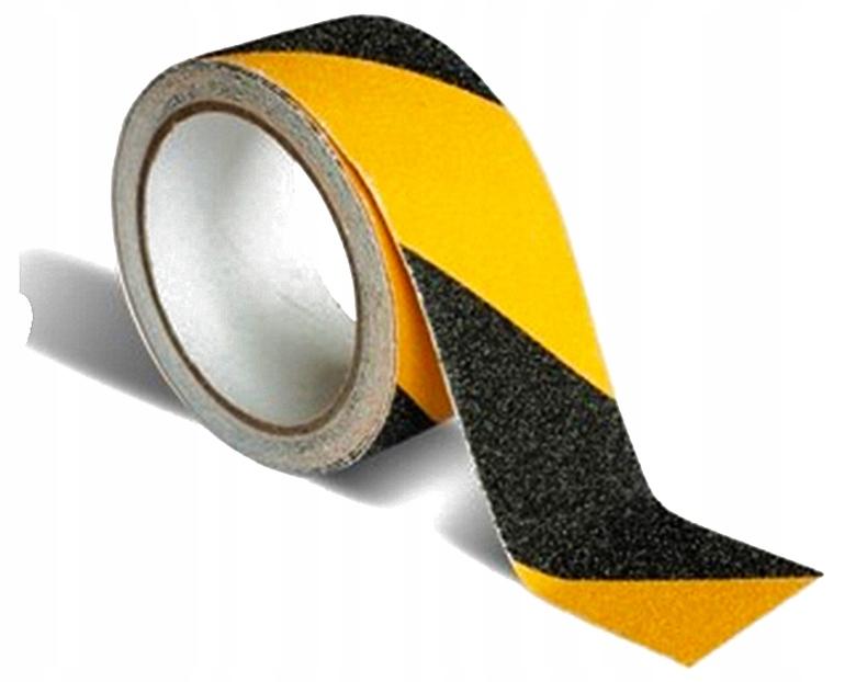 ЛЕНТА ПРОТИВОСКОЛЬЗЯЩАЯ 50мм, 10 МЕТРОВ! желто-черная