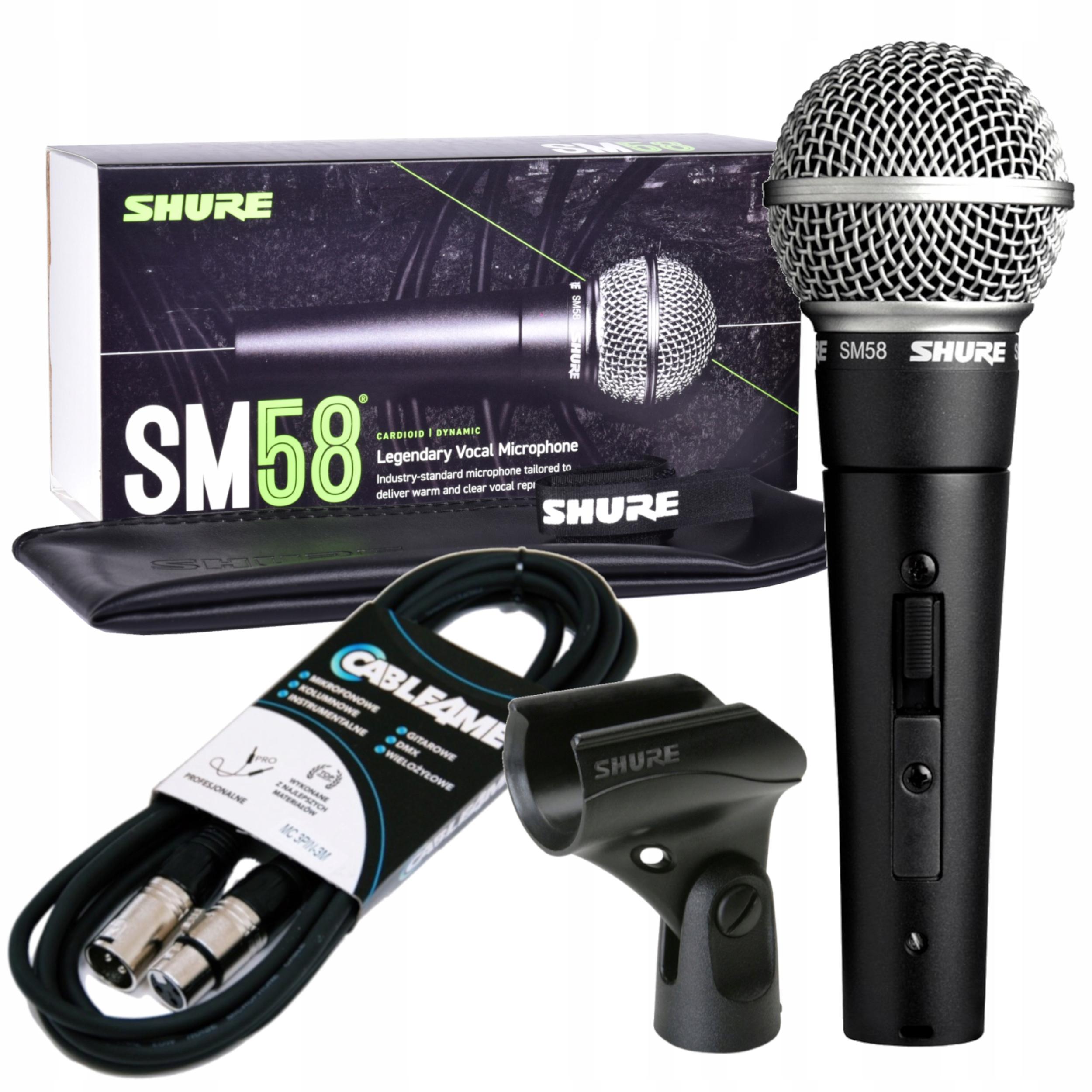 Shure SM 58 SE Mikrofón + XLR 3M drôt