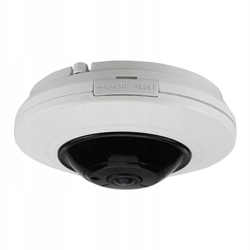 Kamera IP + analog FISHEYE 6MPX RYBIE OKO mSD 360' Funkcje adaptacyjna reprodukcja sygnału (ATR) automatyczna przysłona obiektywu (AI) automatyczna elektroniczna migawka (AES) automatyczna regulacja wzmocnienia (AGC) automatyczny balans bieli (AWB) cyfrowa redukcja szumów (DNR) cyfrowy stabilizator obrazu (DIS) kompensacja światła z tyłu (BLC) kompensacja silnego światła (HLC) nagrywanie na kartę pamięci