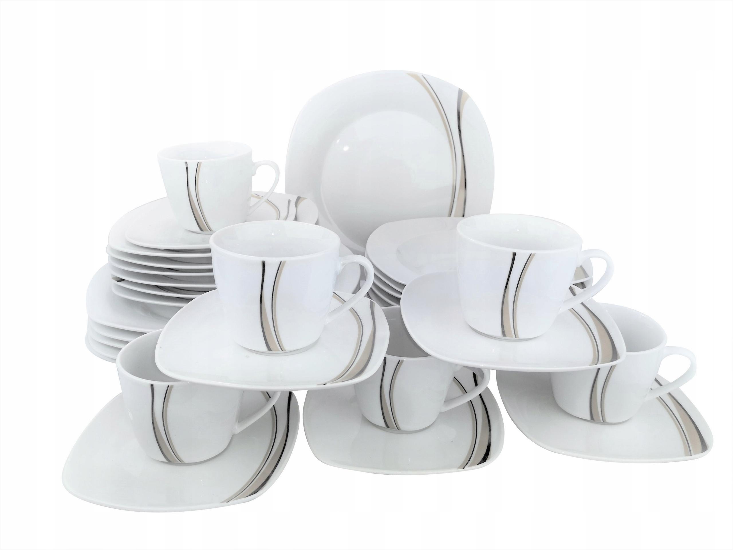 Обеденно-кофейный сервиз MISOLI 30el набор тарелок