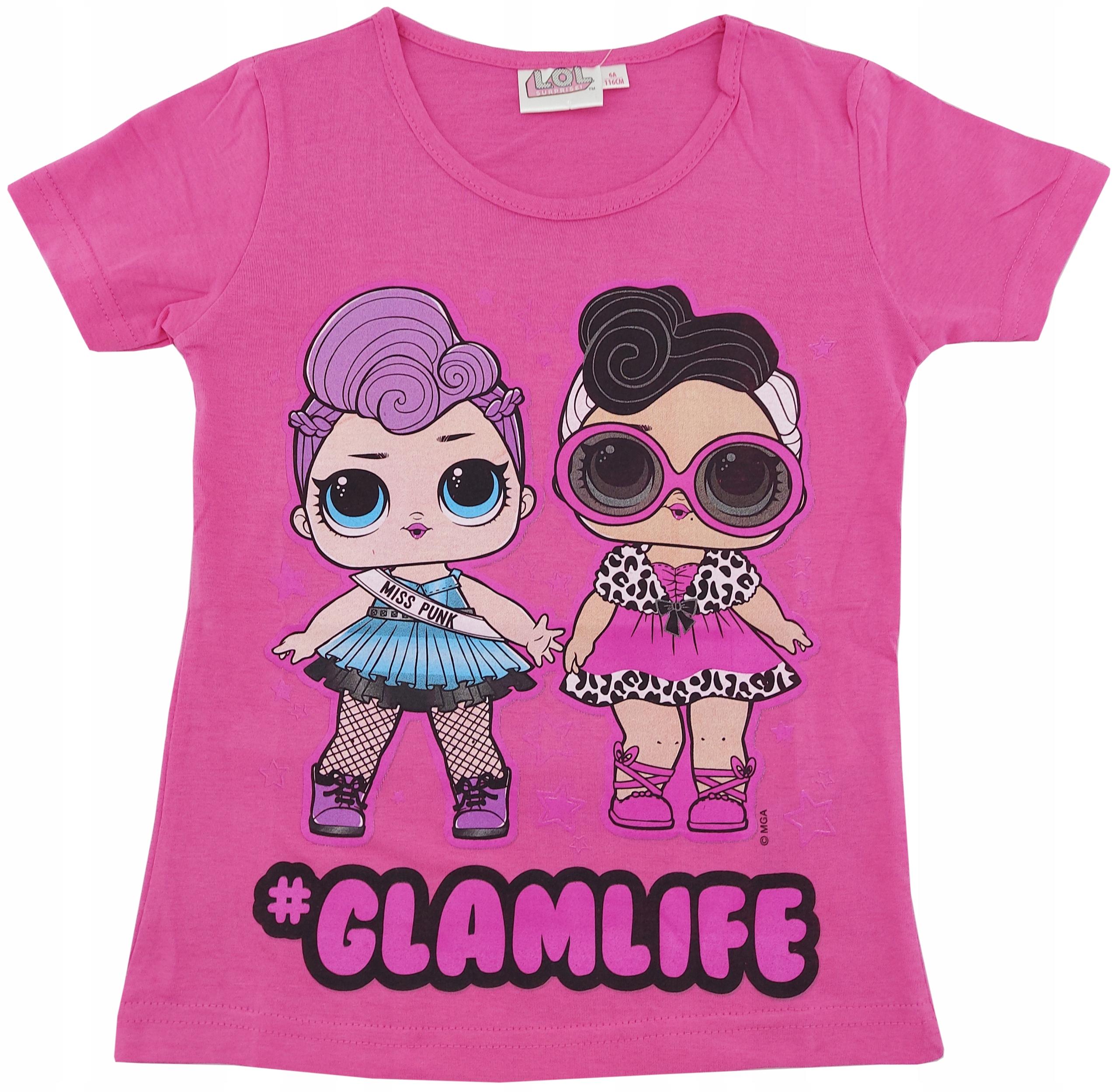 Tričko LOL Surprise Dolls 122 ružové