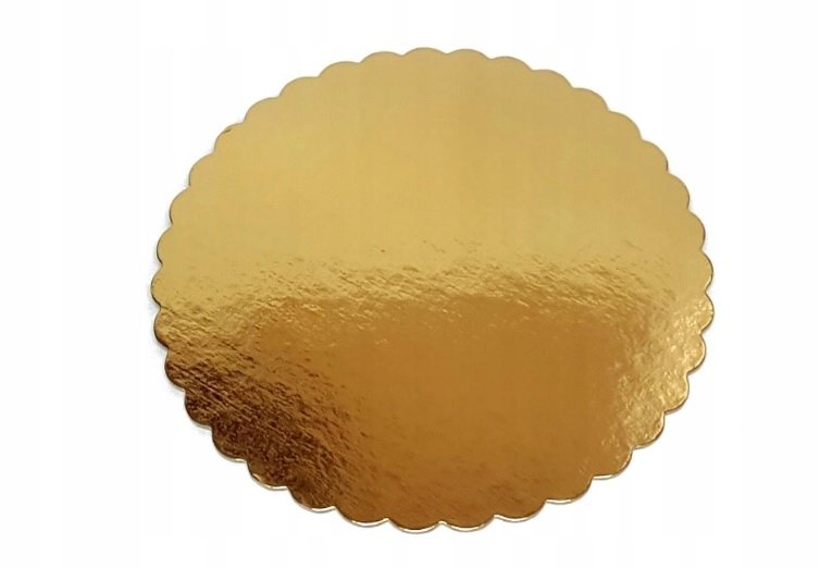 Podkład pod tort gruby złoty 26 cm