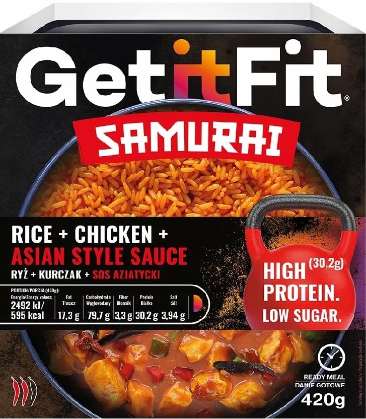 Ryż z Kurczakiem i Sosem Azjatyckim Get It Fit