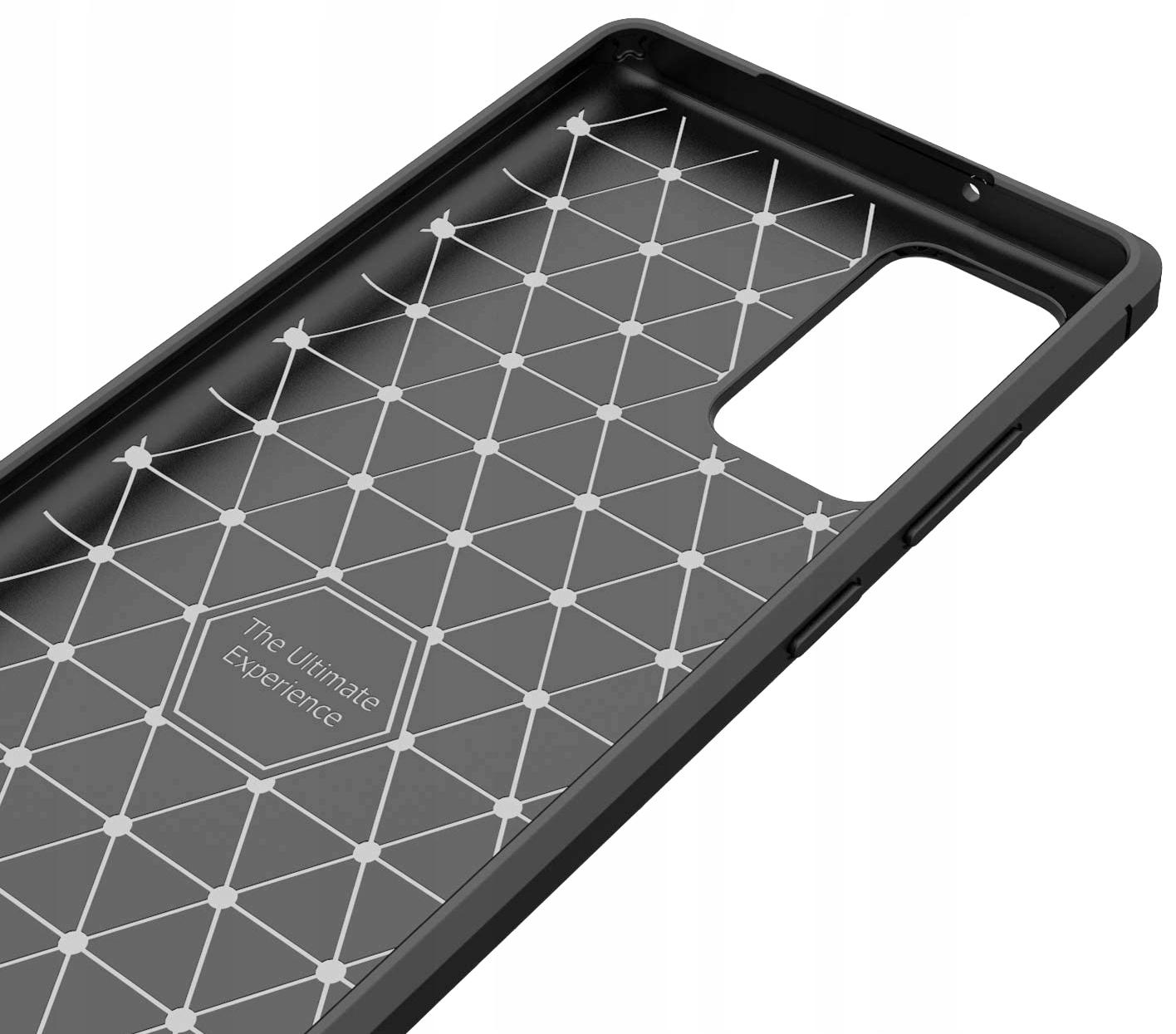 Etui do Xiaomi Mi 10T KARBON PANCERNE + SZKŁO Kolor czarny