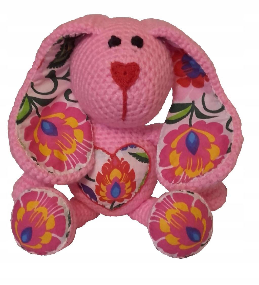 Ručne vyrobený maskot ružového zajačika