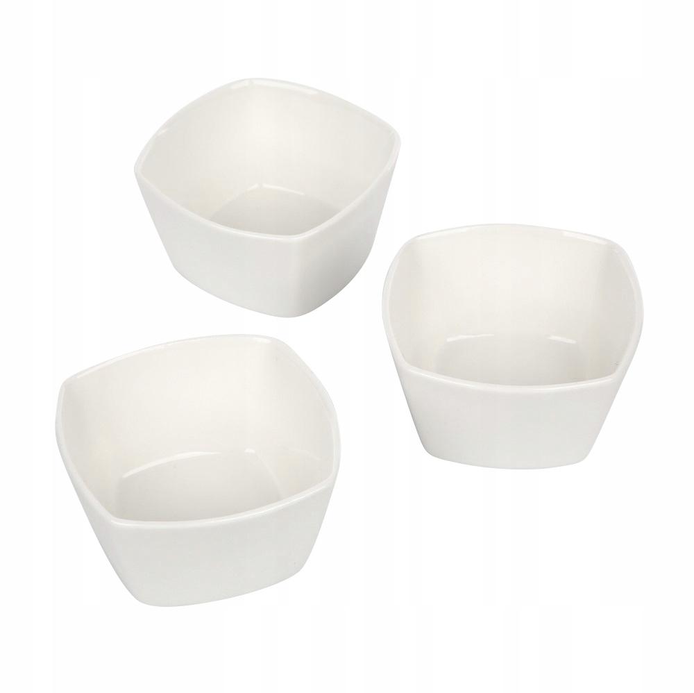 ZESTAW MISECZKI MISKA porcelana komplet 3 sztuki