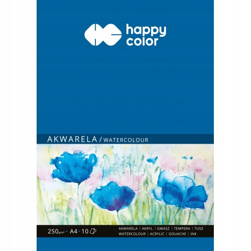 Item Block for watercolor A4 - Happy Color - 250 g, 10 sheets.