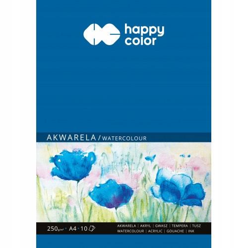 Blok do akwareli A4  Happy Color  250 g 10 ark
