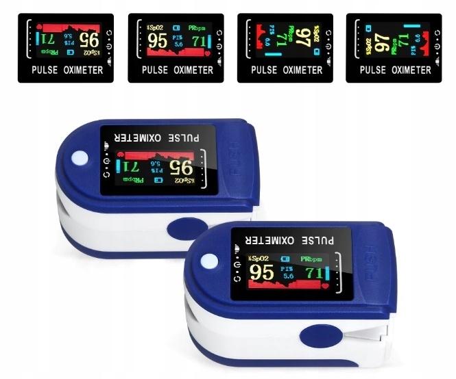 MEDYCZNY PULSOKSYMETR NAPALCOWY PULSOMETR OLED Zakres pomiaru tętna 30-250 BPM