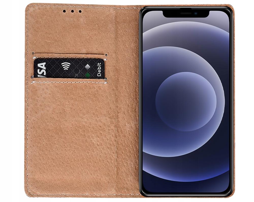 Etui do iPhone 12 Pro Skórzane Portfel + Szkło 9H Producent INNY