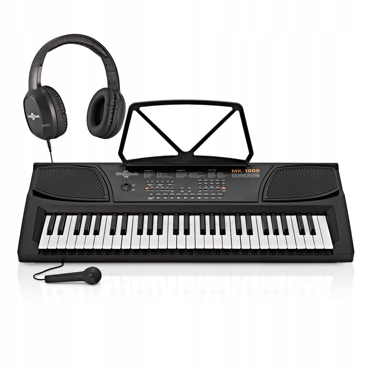 Купить Клавиатура MK-1000 Gear4music + микрофон + наушники на Otpravka - цены и фото - доставка из Польши и стран Европы в Украину.