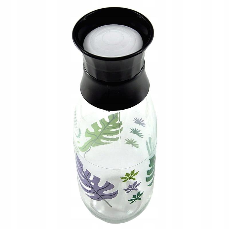 Karafka szklana do wody 1 l z korkiem