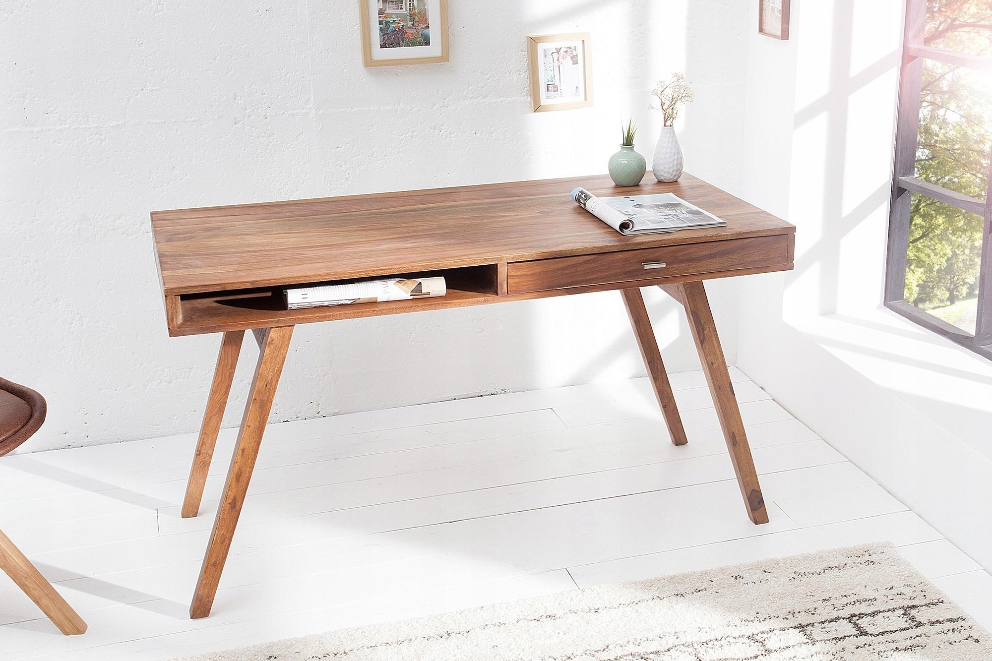 Retro písací stôl 120 cm Sheesham 37516