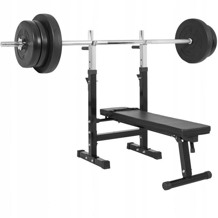 70 kg Bench 2x Barbells Griffpy Plates liatina