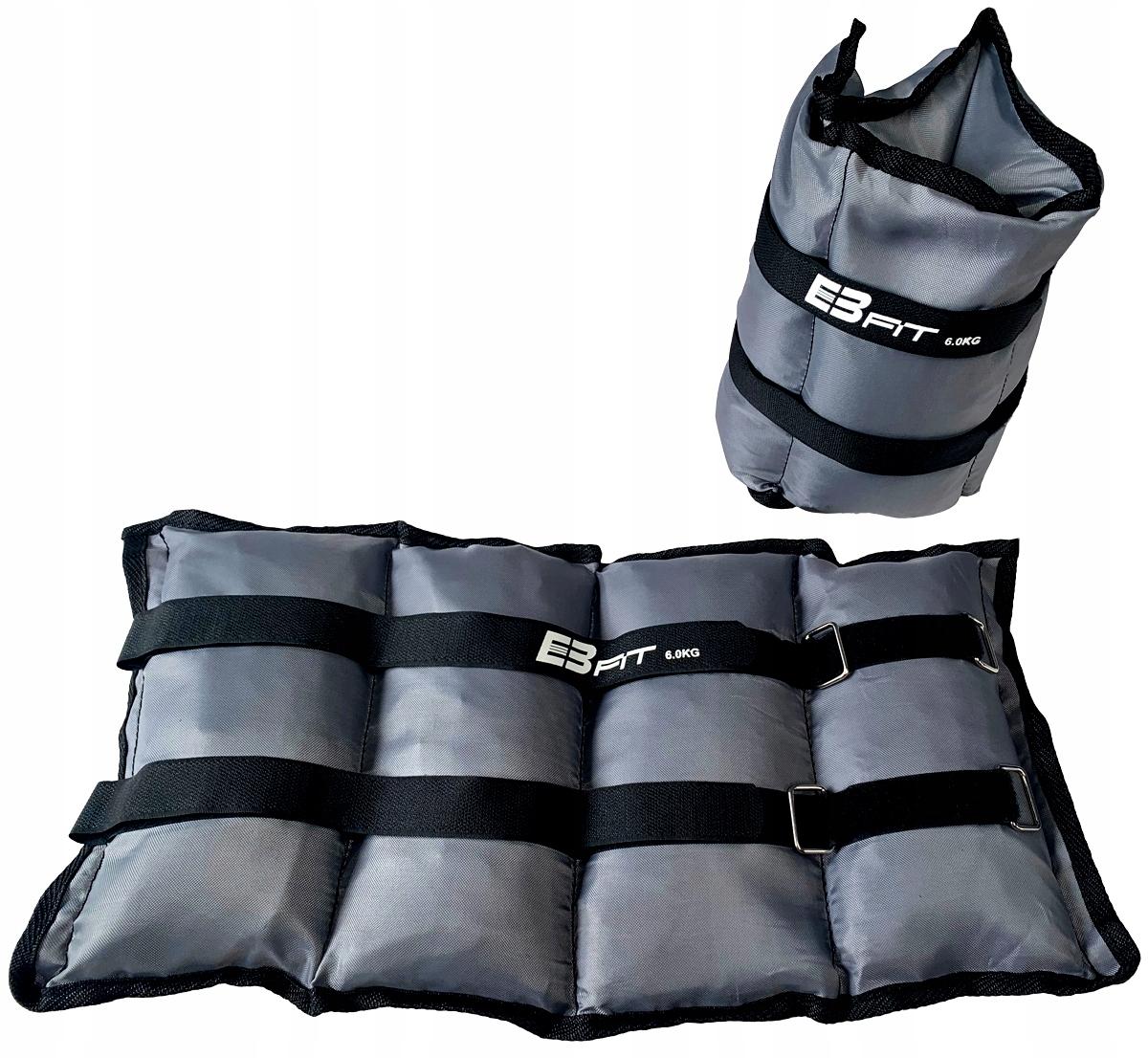 EB FIT 2 x 6 kg závažia na ruky a nohy na cvičenie