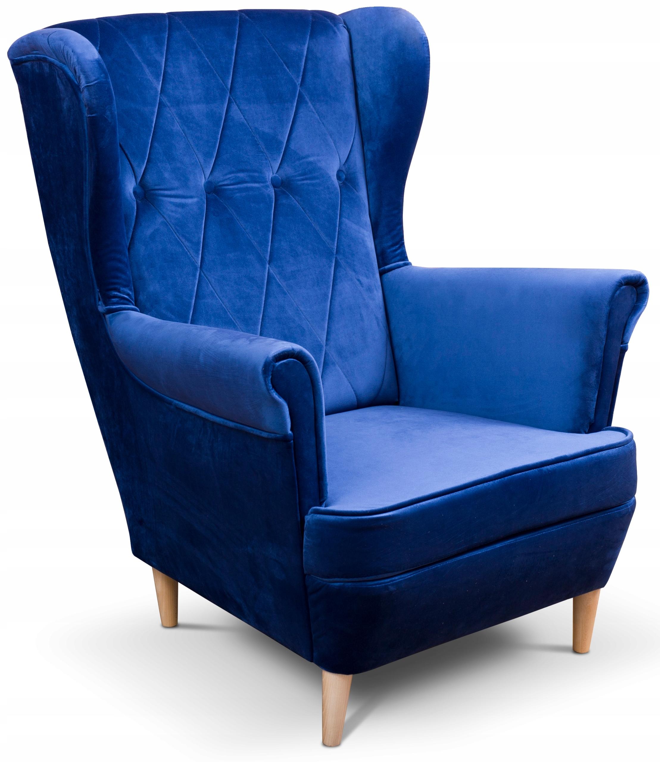 Кресло Uszak в скандинавском стиле с бриллиантами, велюр Caro