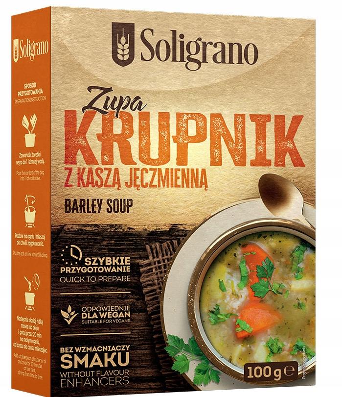Купить Суп Крупник 100 г Солиграно на Otpravka - цены и фото - доставка из Польши и стран Европы в Украину.