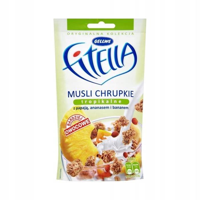 Купить Fitella Musli chrupkie tropikalne 50 g на Otpravka - цены и фото - доставка из Польши и стран Европы в Украину.