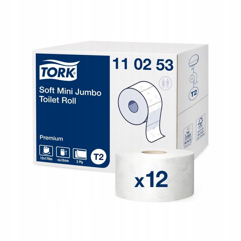 110253 krútiaci moment toaletný Papier mini jumbo T2 biela