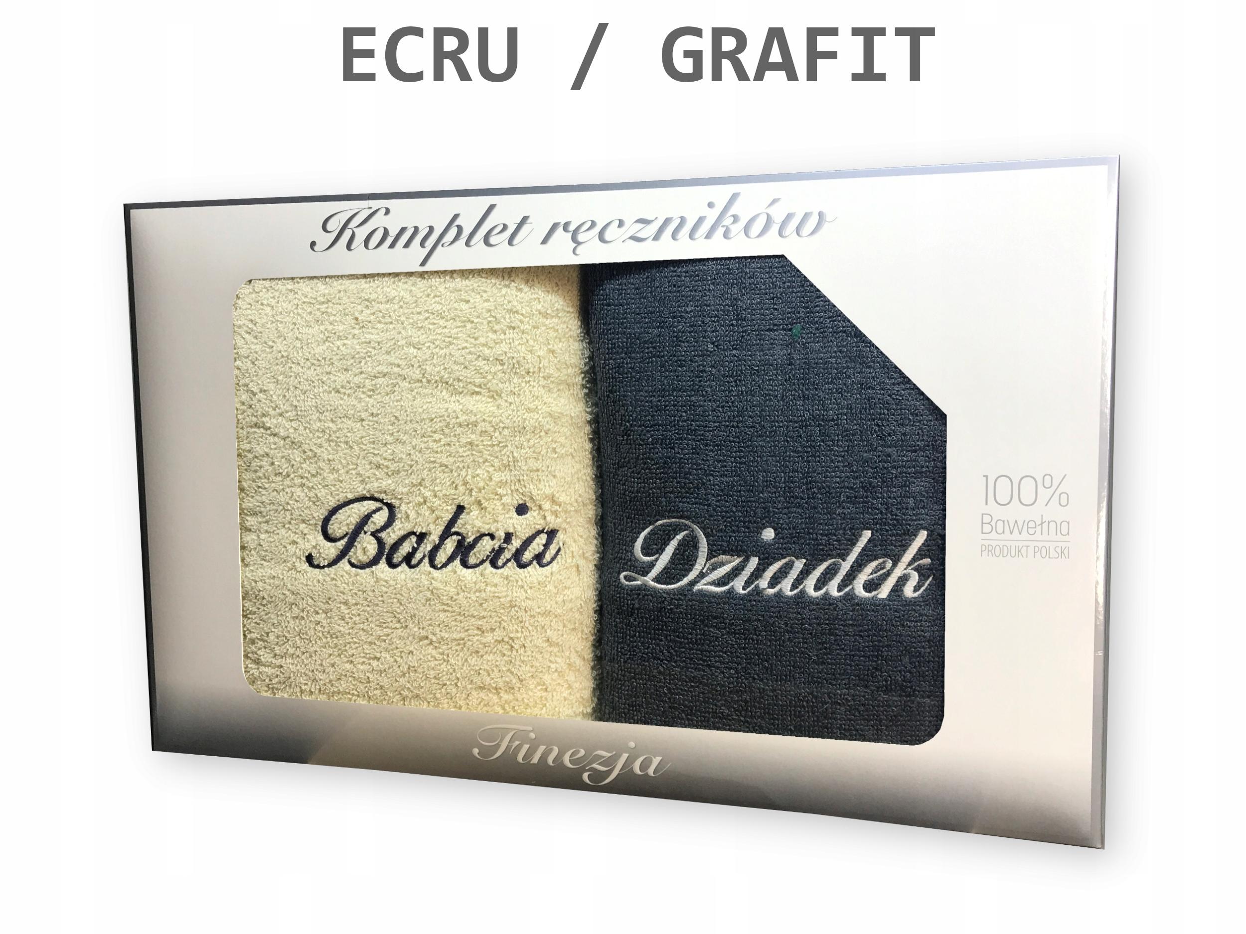 Komplet ręczników BABCIA DZIADEK 70x140 PREZENT