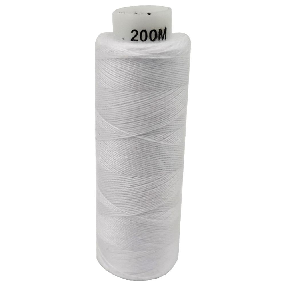 ЖЕСТКАЯ НИТКА 200м белая нить для швейной машины