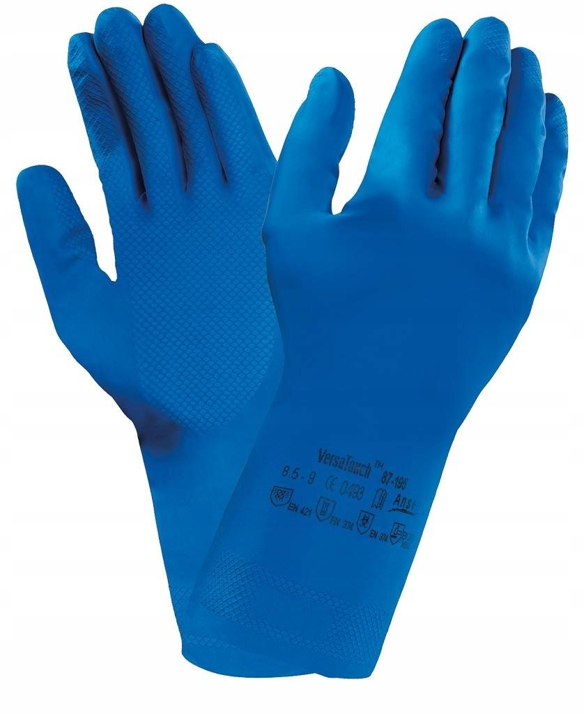 Rękawice lateksowe gospodarcze ANSELL 87-195 7