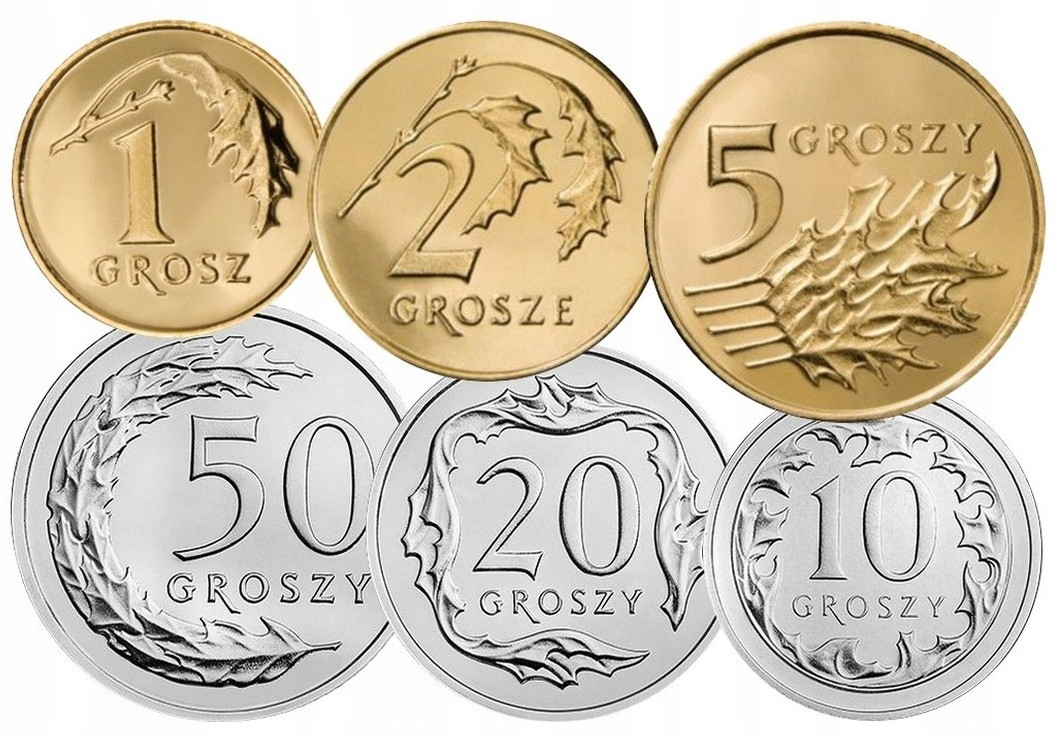 Komplet monet obiegowych 2011 r. UNC 6 sztuk
