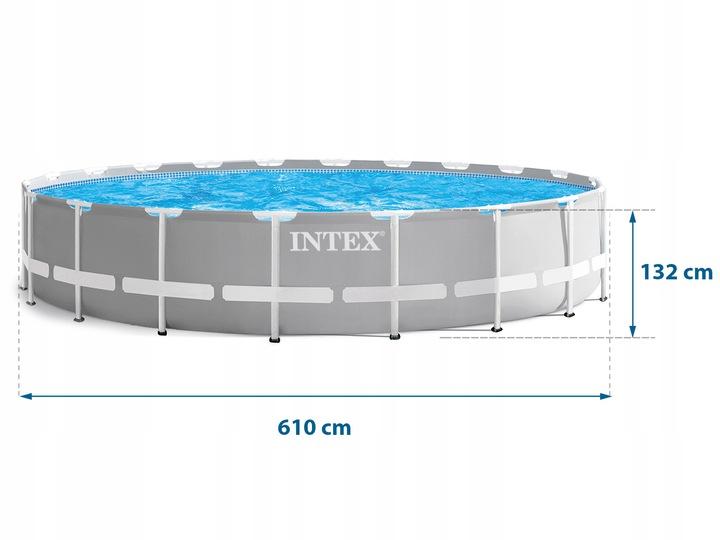 BASEN STELAŻOWY 610x132 INTEX 18w1 26756 Szerokość 610 cm