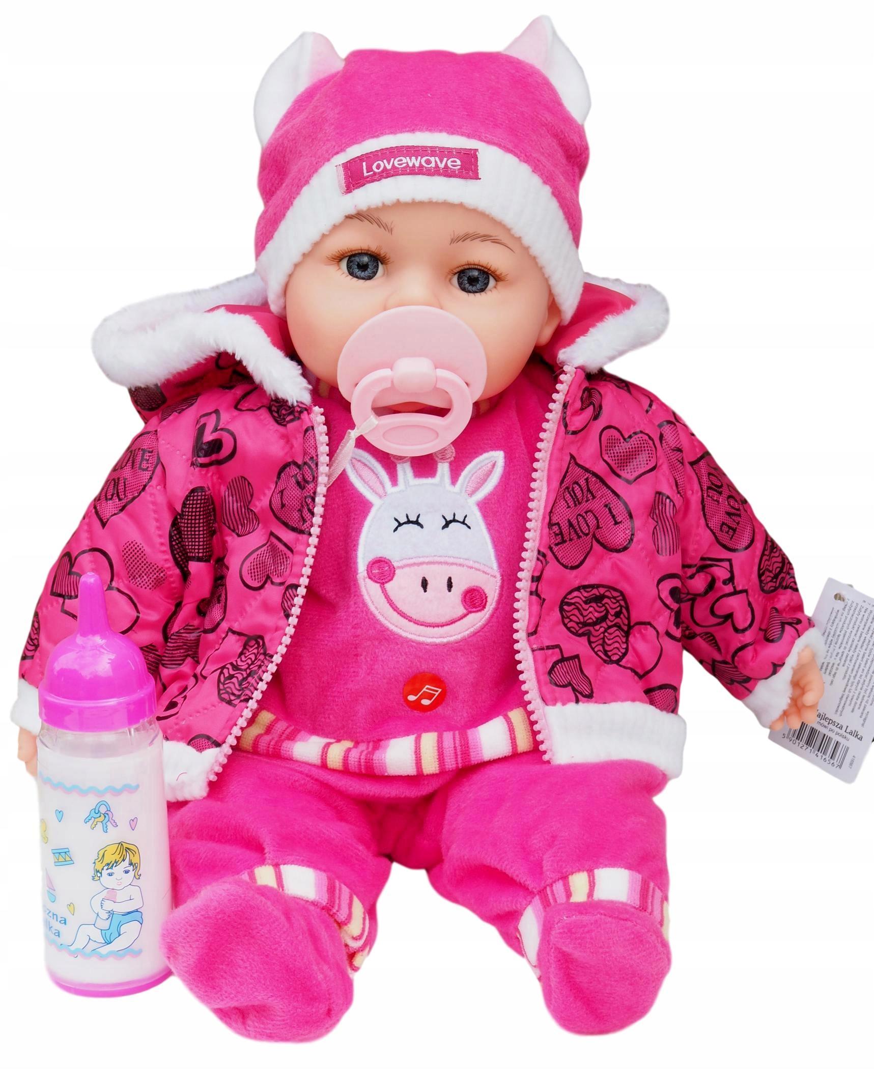 LIKE LIVE BABY Doll 45 CM HOVORÍ A SPIEVA