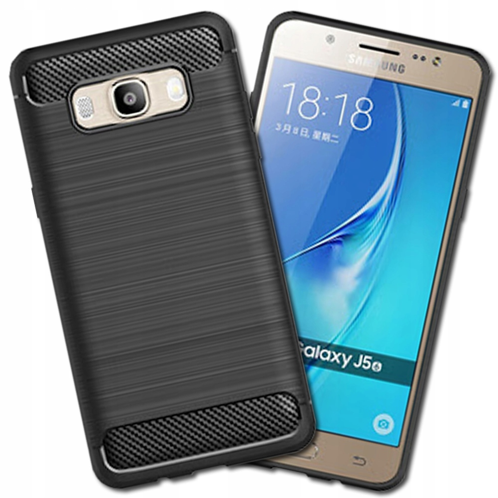 Czarne Etui Carbon do Samsung Galaxy J5 2016