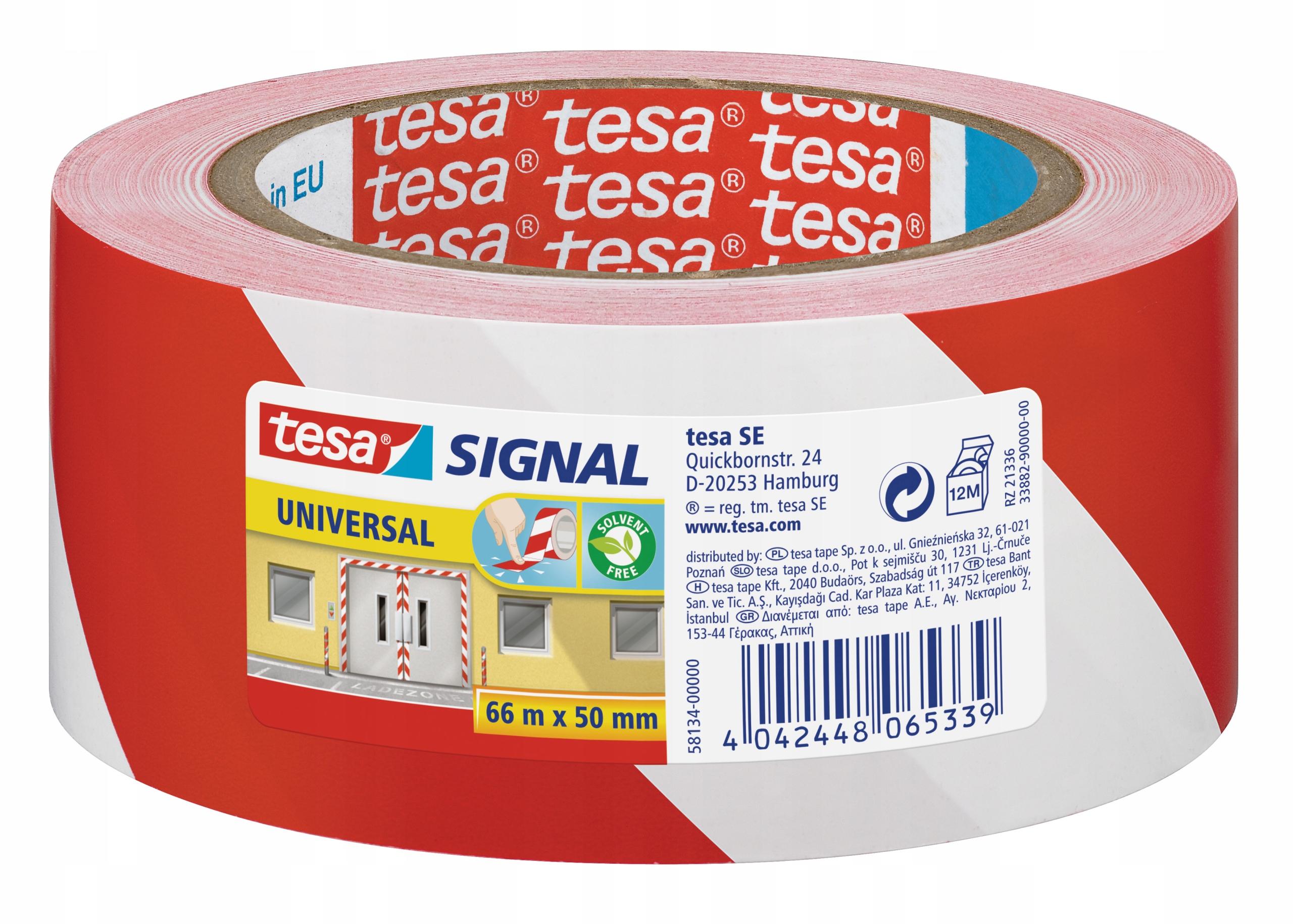 Tesa предупреждение ленты белого красного 66m х 50 мм