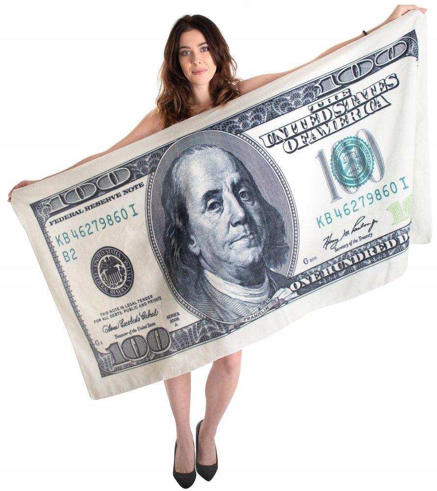 Полотенце пляжное DOLAR 100 $ 160х80