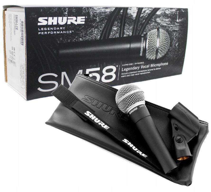 Shure SM 58 LCE Dynamický vokálny mikrofón