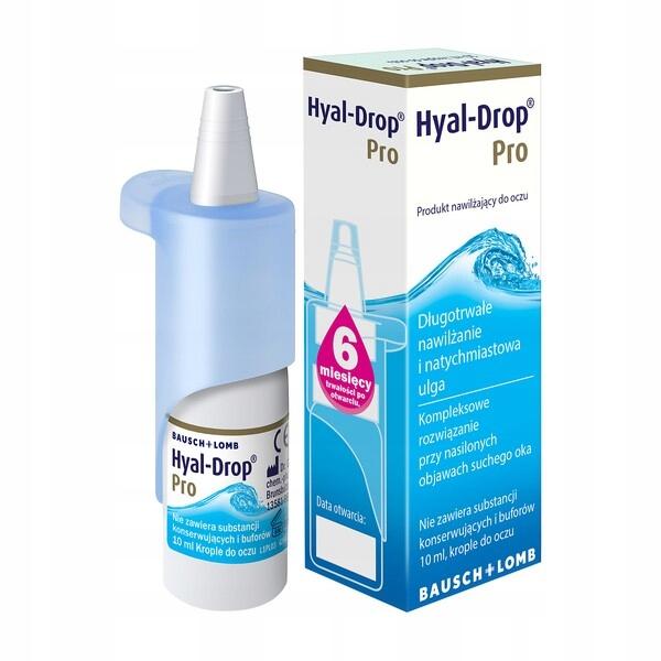 Hyal-Drop Pro Nawilżające Krople Do Oczu 10ml