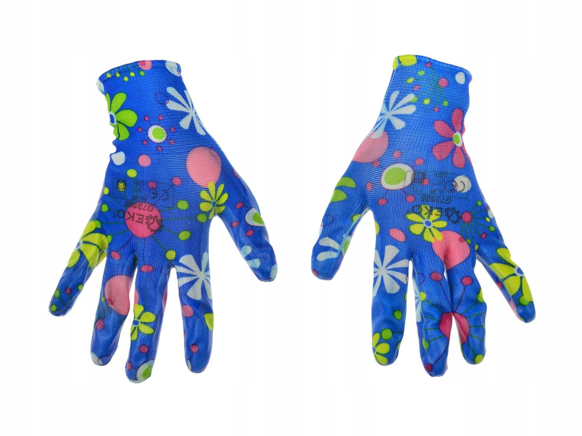 Rękawice robocze ogrodowe damskie r 7 GEKO G73506