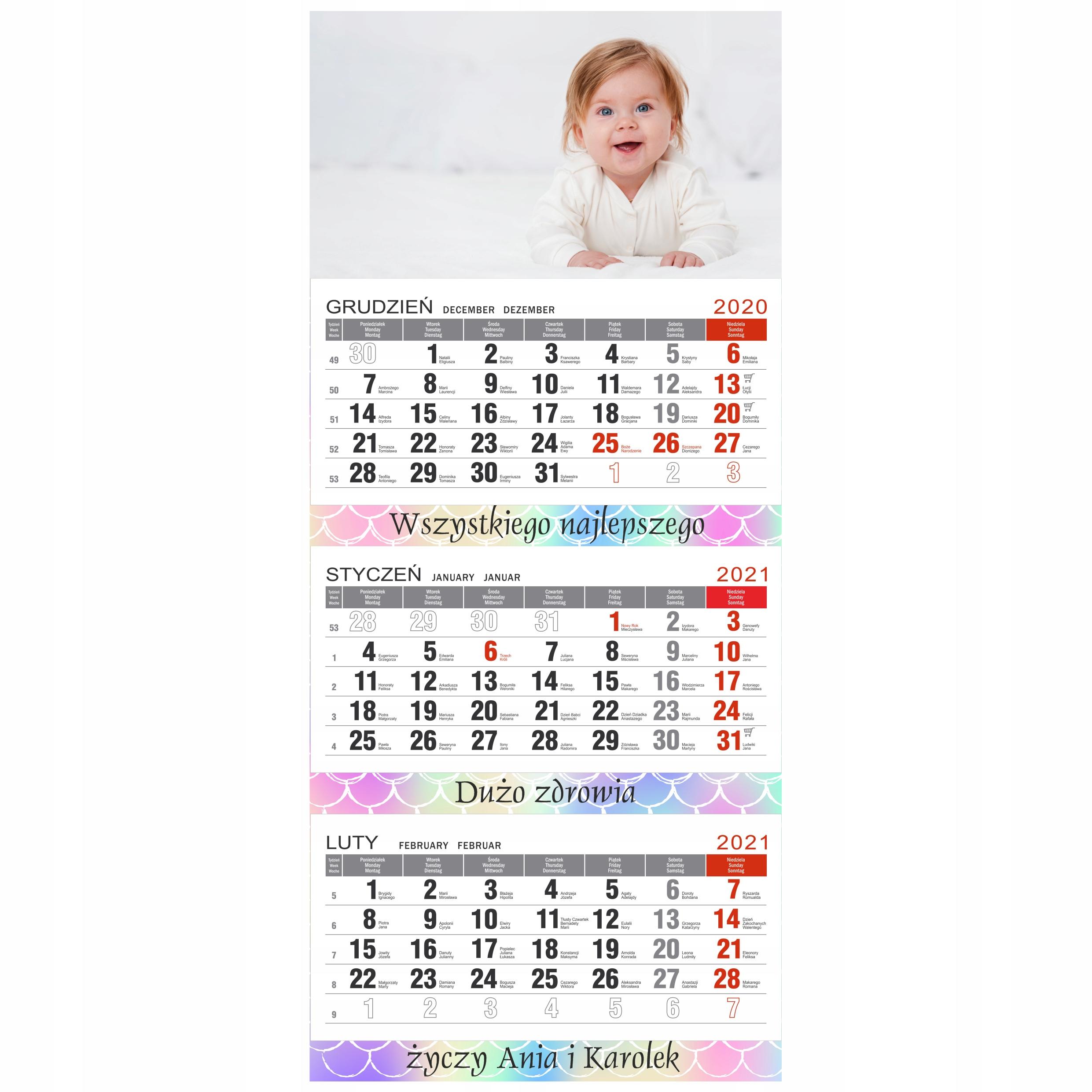 Prezent na święta fotokalendarz dla babci dziadka