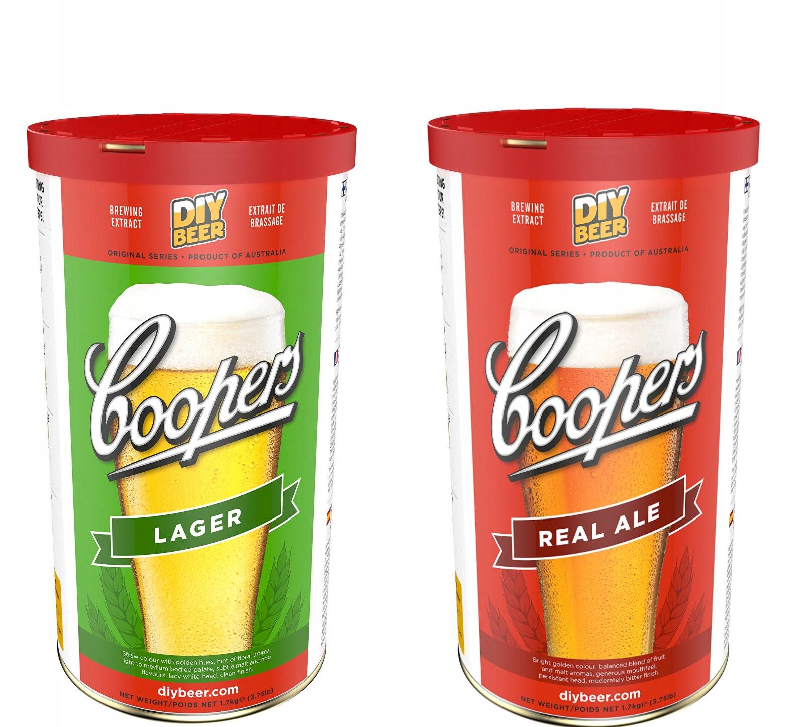 Brekwit COOPERS lager, real ale 23l PIWO DOMOWE