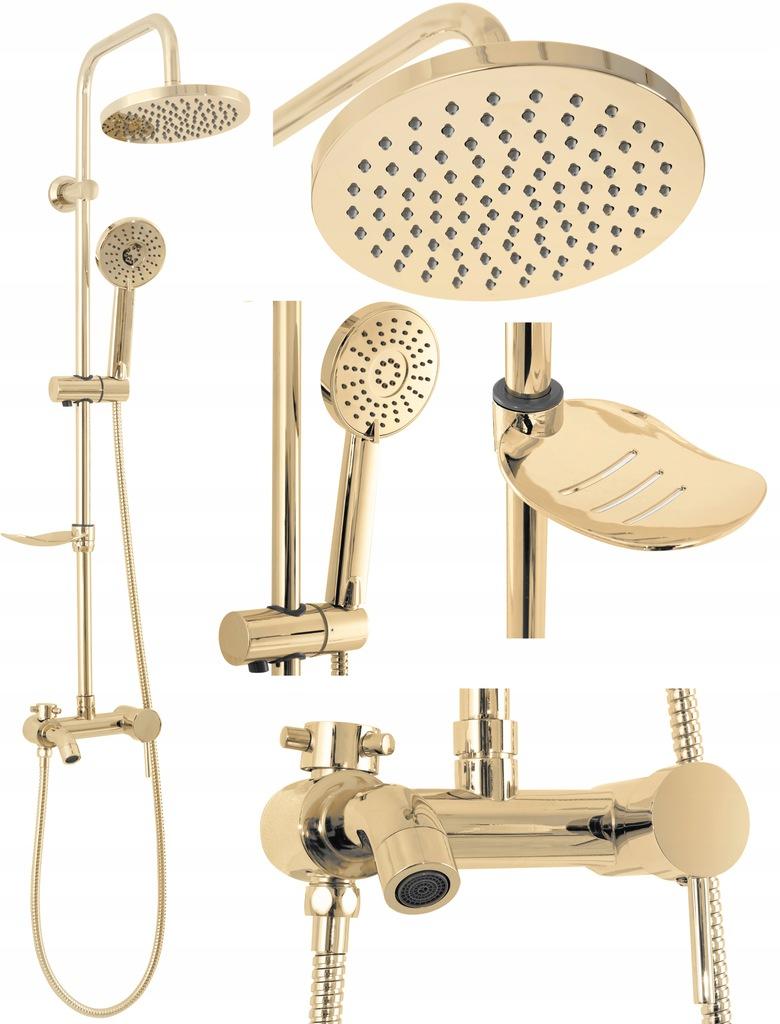 Zestaw Prysznicowy Natryskowy Złoty LUIS GOLD REA