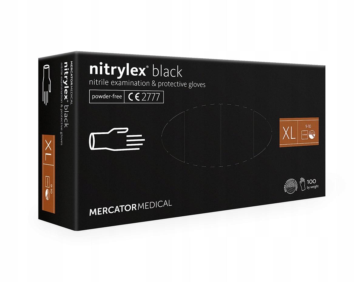Nitrile перчатки nitrylex черный XL 100 пк