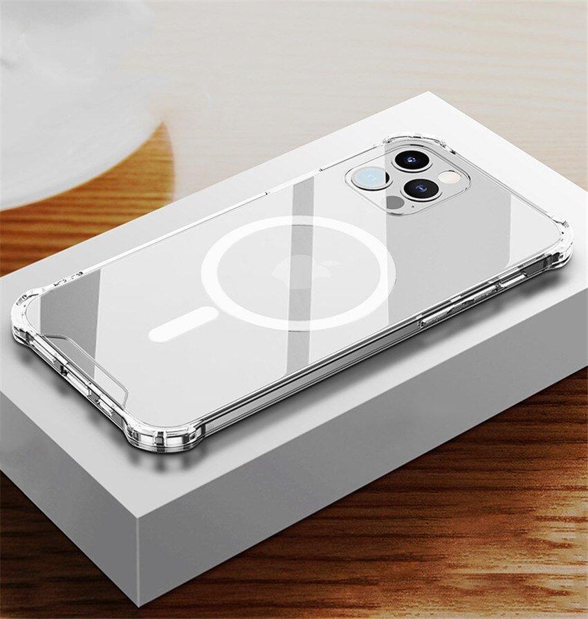 Etui Magnetic MagSafe do iPhone 12 / Pro + szkło Waga produktu z opakowaniem jednostkowym 0.2 kg