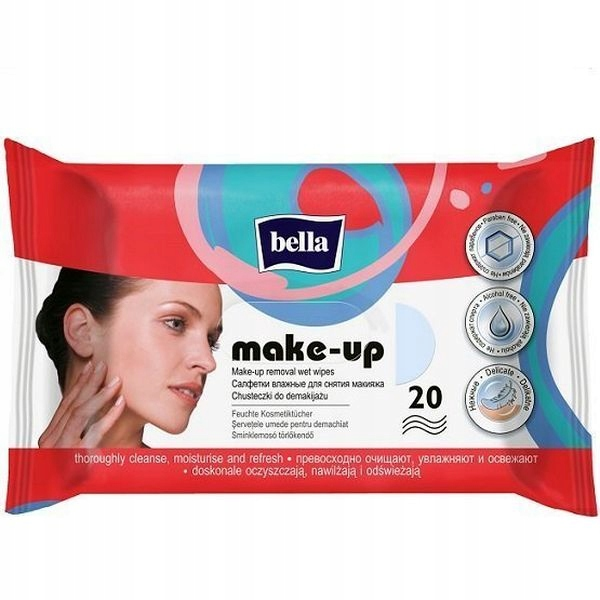 Белла макияж удаления салфетки 20pcs